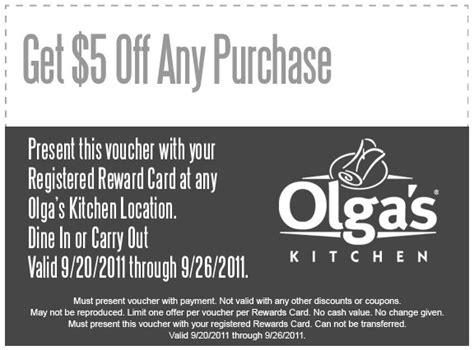 5 00 off any purchase at olga s kitchen kroger krazy