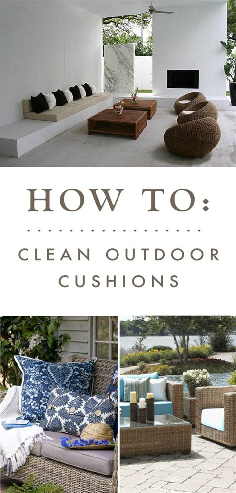 the best way to clean your outdoor patio cushions