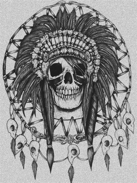 indian skull tattoo the world s catalog of ideas