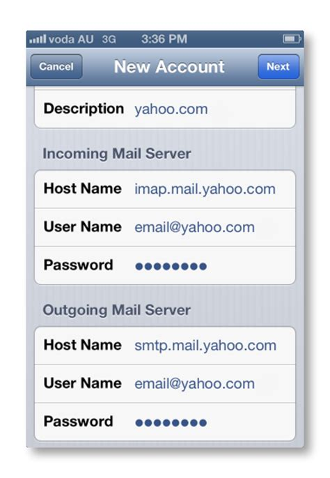 yahoo email problems iphone vodafone support setting up your yahoo email account on