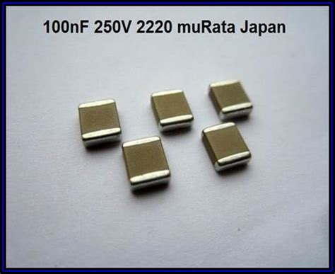 smd capacitor murata murata smd capacitor 100nf 0 1 181 f 250v 20 2220 5 st 252 ck