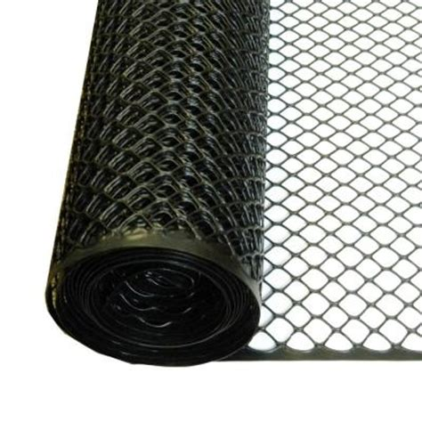 tenax 3 ft x 25 ft black poultry hex fence 206866 the