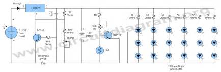 12v solar led activated l circuit diagram