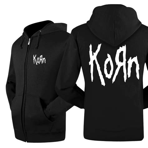 Jaket Zipper Hoddie Sweater Metal Hammer popular korn hoodie buy cheap korn hoodie lots from china