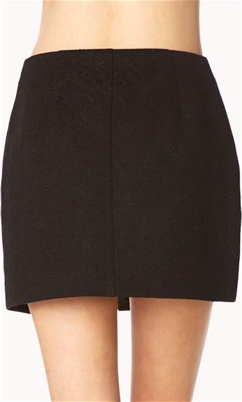 black origami skirt forever 21 fancy origami skirt in black lyst