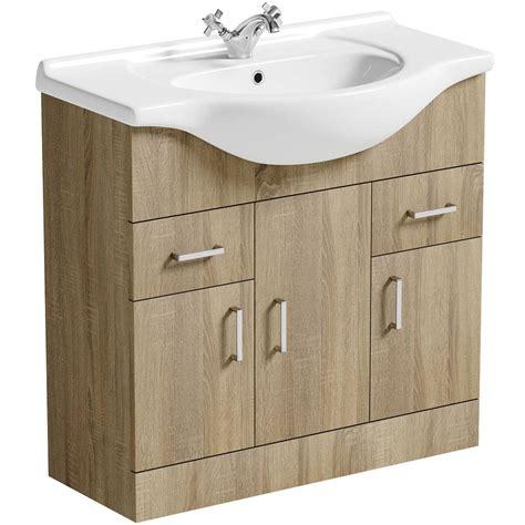 victoria plumb bathroom vanity units sienna oak 850 vanity unit basin victoriaplum com