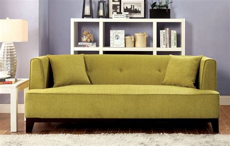 green transitional style modern sofa