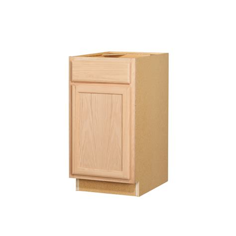 shop kitchen classics 35 in x 18 in x 23 75 in unfinished oak door and drawer base cabinet at - unfinished kitchen cabinets lowes kitchen