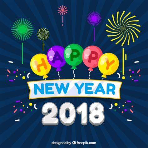 freepik new year happy new year 2018 vector free