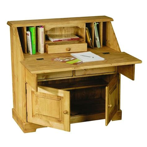 bureau scriban scriban rustique en pin 2 portes et 2 tiroirs achat