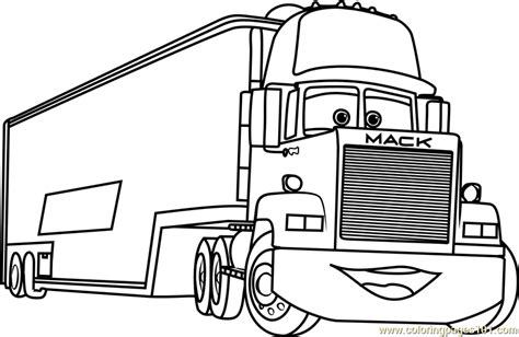 coloring pages cars 3 mack from cars 3 coloring page free cars 3 coloring