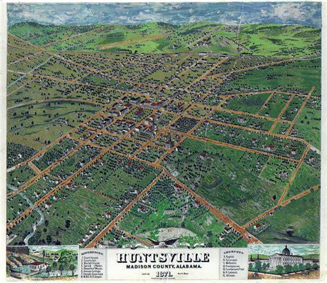 Records Huntsville Al 1871 Map Of Huntsville Alabama Genealogy