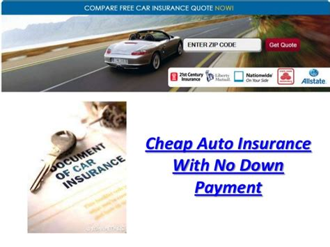 Cheap Car Insurance Payment by Cheap Auto Insurance With No Payment