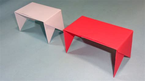 How To Make Origami Table - how to make a paper table easy origami table tutorial
