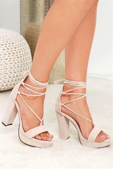De Velvet Freya Sepatu High Heels heels platform heels lace up heels vegan