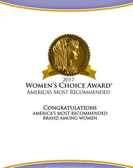 Research America Network Sweepstakes - overview women s choice award