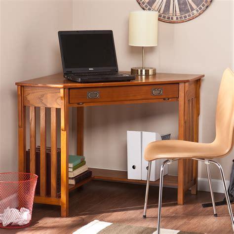 Corner Computer Desk Mission Oak Oak Computer Corner Desk