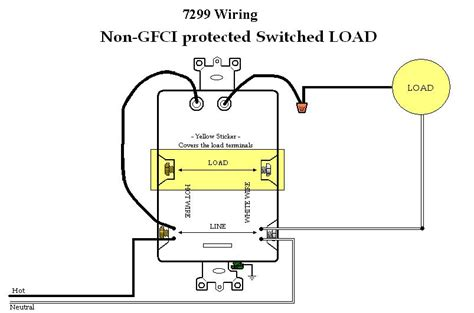wiring diagrams for leviton bination switch gfci wiring