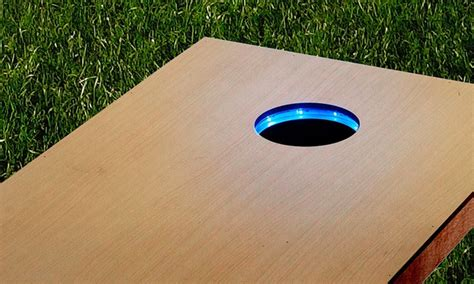 light up corn board hole sets board led light rings groupon goods