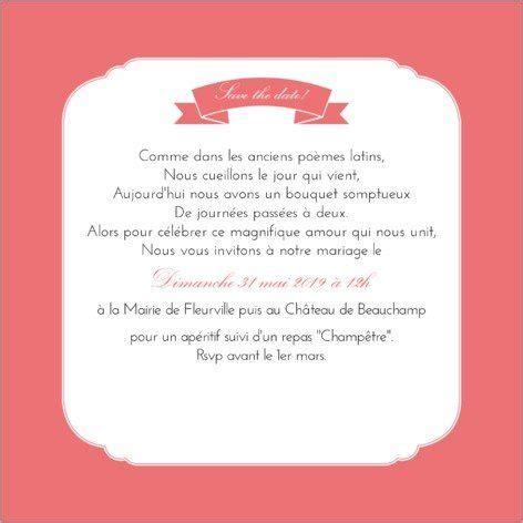 Texte faire part marriage gourmandise kirsch