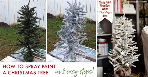 can you spray paint xmas tree white how to spray paint your own white tree