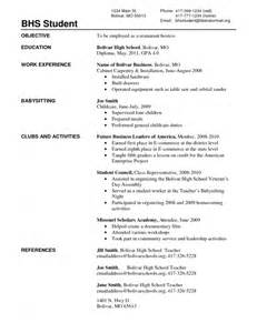 fresh out of high school resume sles of resumes