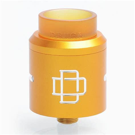 Druga 24 Rda Atomizer Black Authentic Termurah 24 99 authentic augvape druga rda yellow 24mm rebuildable atomizer