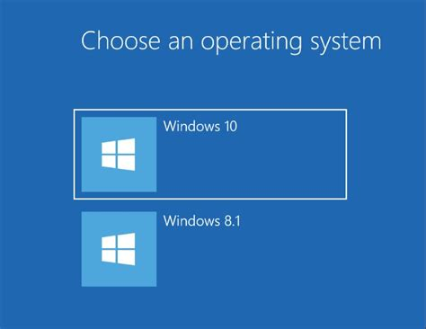 choosing windows remove the quot choose an operating system quot message when