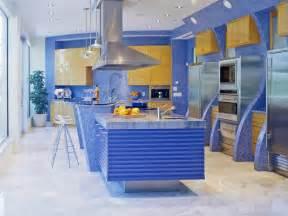 blue kitchen design a splash of color 13 colorful kitchen design ideas kitchen cabinet installation and