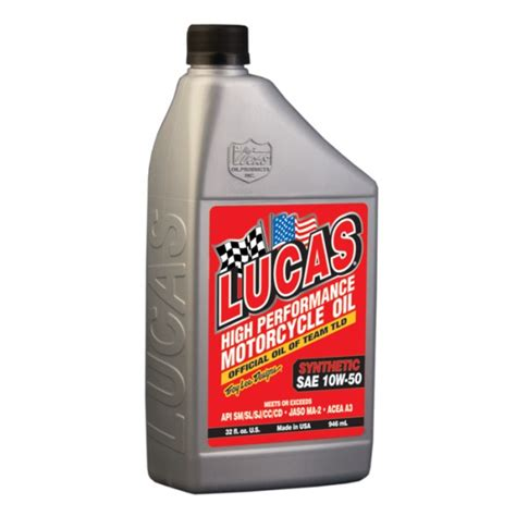 Lucas Synthetic Sae 50 Wt Motorcycle V sae 10w 50 synthetic motorcycle apparel racing