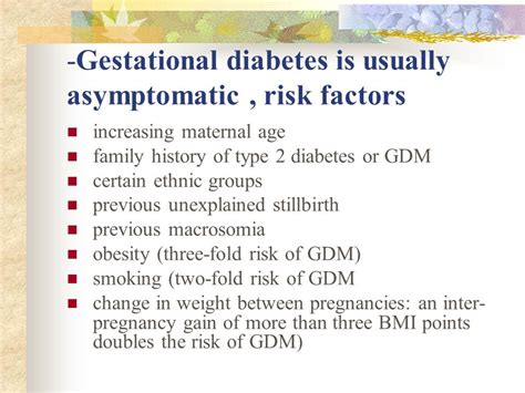 gestational diabetes c section gestational diabetes mellitus gdm ppt video online