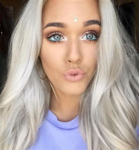 lottie tomlinson hair make up lottie tomlinson silver hair eye makeup eye