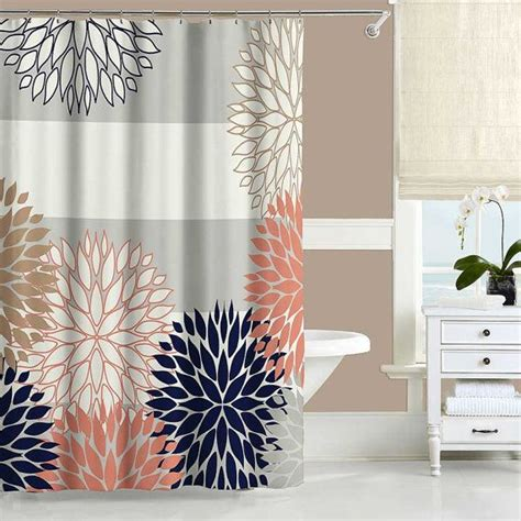 Coral And Gray Curtains Top 25 Best Coral Shower Curtains Ideas On