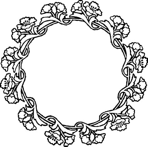 Flower Circle Ring by Circle Flower Clipart 73