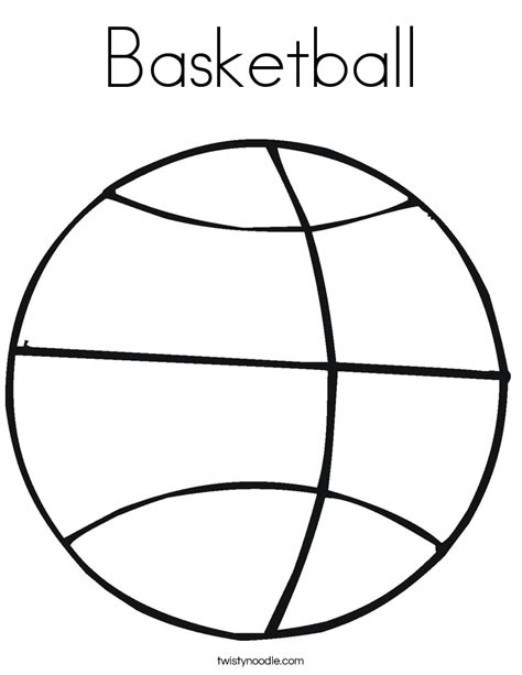 coloring pages basketball basketball coloring page twisty noodle