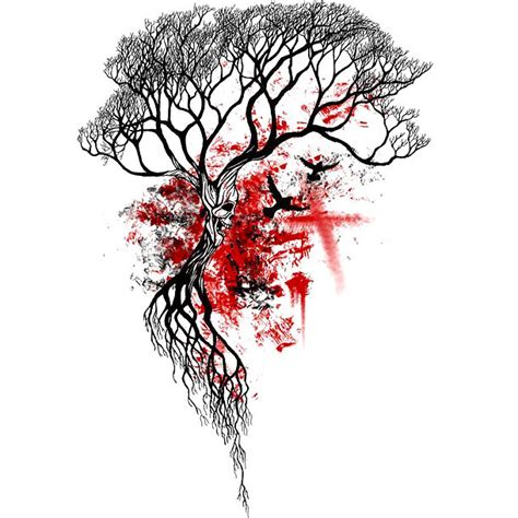 dead tree tattoo designs trash polka dead tree design