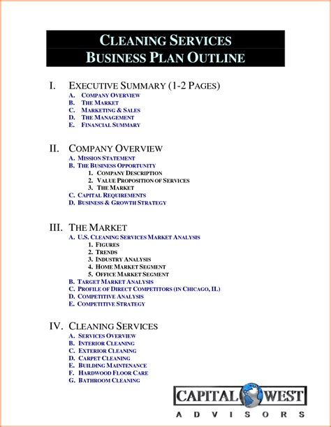 services business template 4 business for cleaning services project