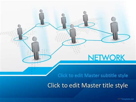 network templates for powerpoint free download free network ppt template