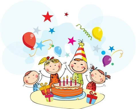Animated Child Birthday Card Birthday Cartoon Free Vector In Adobe Illustrator Ai Ai
