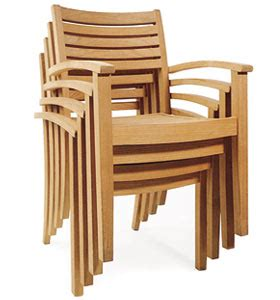 wina new stacking dining chair with arm rest teak teka