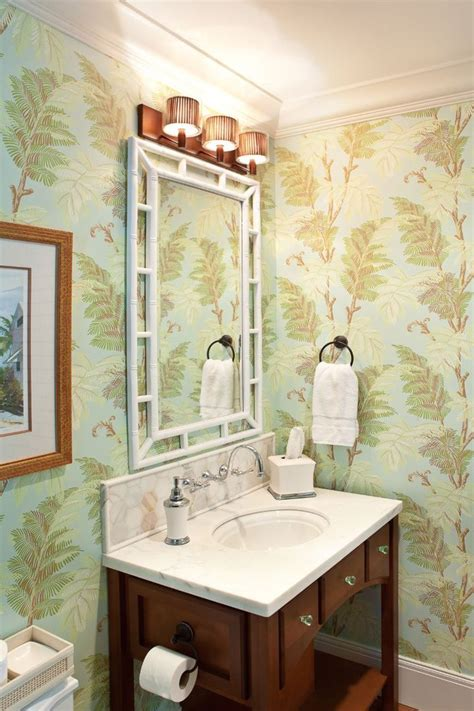 wallpapered bathrooms ideas 270 best wallpapered bathroom images on
