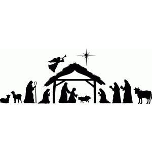 Silhouette Design Store View Design 69803 Large Nativity Scene Nativity Silhouette Template