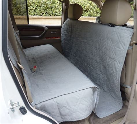 seat protector for dogs suv truck car back seat cover for dogs and cats quilted padded gray new ebay