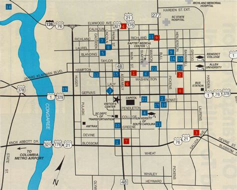 downtown columbia sc map i 26