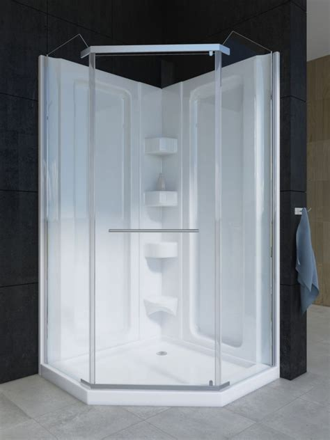 Acrylic Shower Units Mirolin Sorrento 38 Inch 1 Acrylic Shower Stall