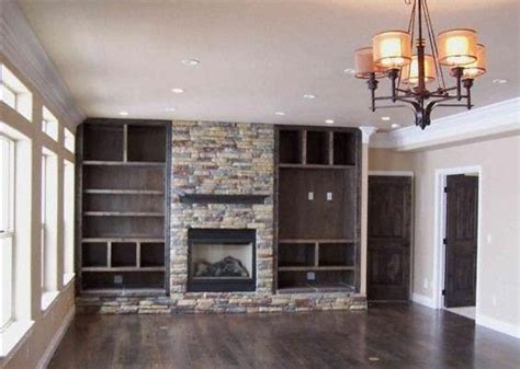 17 best ideas about shelves around fireplace on