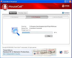 housecall trend scan machine for virus and malware housecall