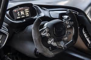 The trimmed down steering wheel designed to allow the driver to
