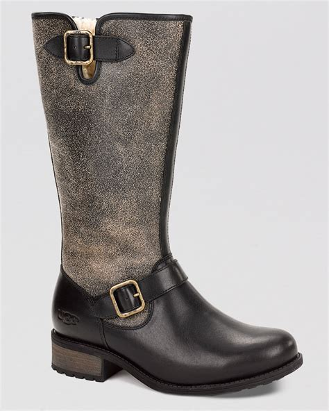 cold weather work boots work boots for the cold lyst ugg tall cold weather boots chancery in black