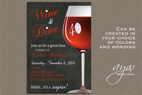 wine invitation template wine birthday invitation printable invitation